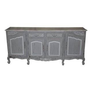 19th Century French Gray Sideboard For Sale