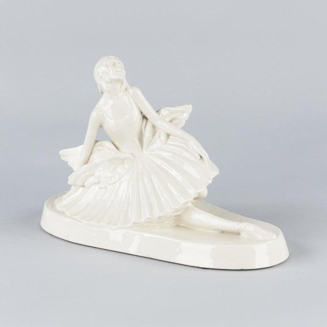 Signed French Ceramic Figurine of Ballerina Anna Pavlova, 1930s - Image 2 of 11
