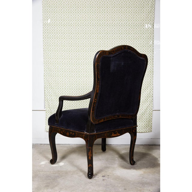 21st century American fauteuil designed in the style of Louis XV by Sally Sirkin Lewis for J Robert Scott. The chair's...
