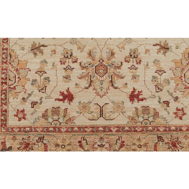 Traditional Pakistani Hand-Knotted Wool Rug - 4′ × 6′ - Image 3 of 4