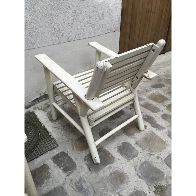 French Riviera Beach House Pair of Lounge Chair For Sale - Image 6 of 8