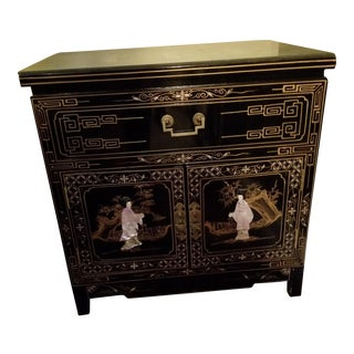 Vintage Black Asian Side Table- 2 Available