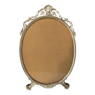 Early 20th Century Art Nouveau/Art Deco Silver Gilded Standing Photo Frame For Sale