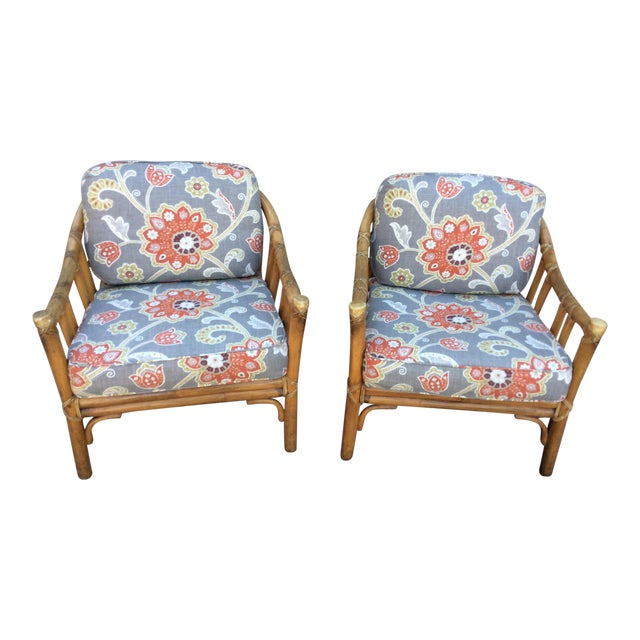 Vintage McGuire Chairs- A Pair For Sale
