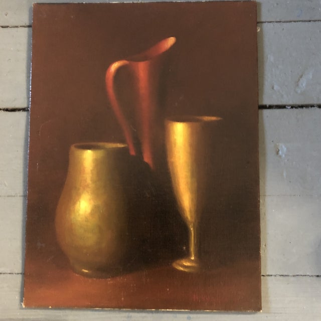 Gallery Wall Collection 3 Original Vintage Classic Still Life Paintings For Sale - Image 4 of 10