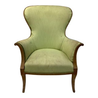 Antique Swedish Wingback Chair For Sale