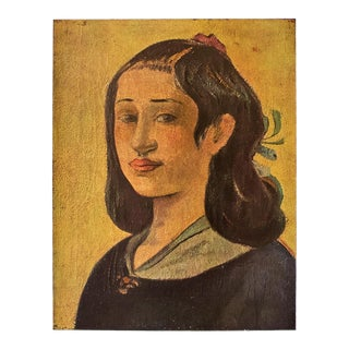 "1940s Paul Gauguin ""The Artist's Mother"" Original Swiss Lithograph For Sale"