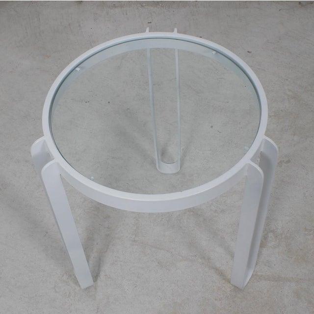 White Enamel Side Table - Image 3 of 4