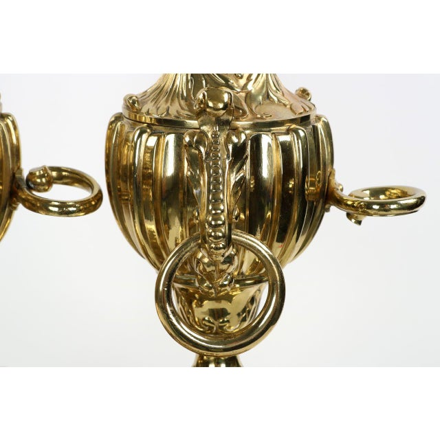 19th Century F. Barbedienne Louis XVI Style Brass Chenets Andirons - A Pair For Sale - Image 9 of 11