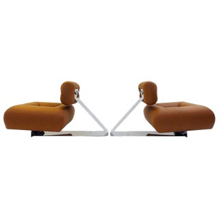 "Pair of ""Aran"" Lounge Chairs by Oscar Niemeyer, Circa 1975 For Sale"