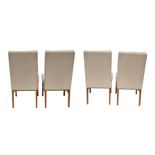 Wood Johnson Furniture Tufted Dining Chairs - Set of 4 For Sale - Image 7 of 12