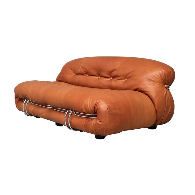 "1970s Vintage Afra & Tobia Scarpa ""Soriana"" Two-Seater Sofa For Sale - Image 13 of 13"