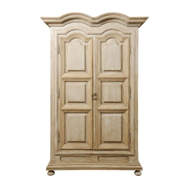 Brazilian Painted Wood Storage Cabinet For Sale - Image 12 of 12