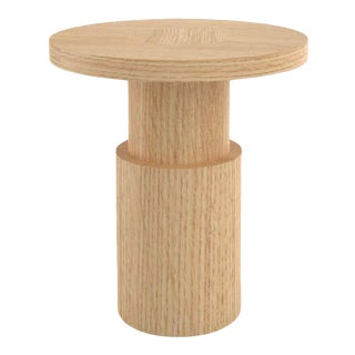 Contemporary 105 End Table in Oak by Orphan Work, 2020 For Sale