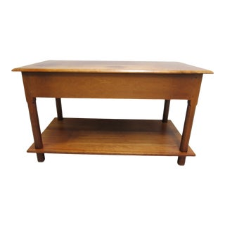 1980s Shaker David T Smith Cabinetmaker Shaker Style Work Table For Sale