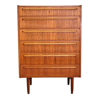 "Original Danish Mid Century Teak Dresser - ""Hagr"" For Sale"