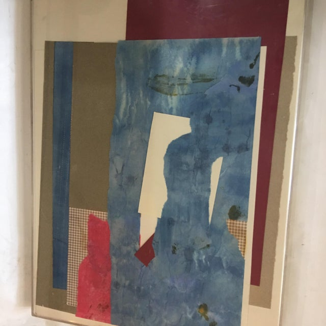 Mitzi Levin Abstract Collage, 1983 - Image 4 of 10
