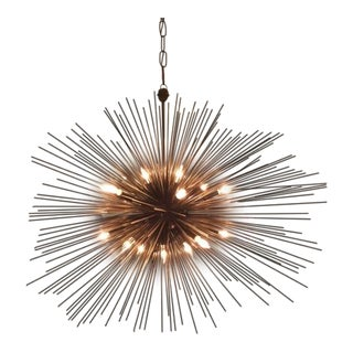 Kelly Wearstler Strada Oval Aged Iron Pendant Light For Sale