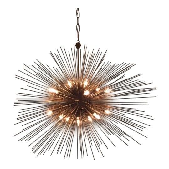 Kelly Wearstler Strada Oval Aged Iron Pendant Light - Image 1 of 3
