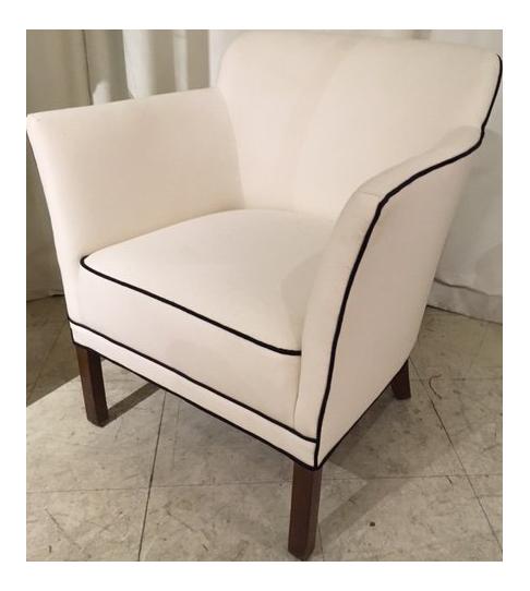 1960s Scandinavian Modern White Single Tub Chair