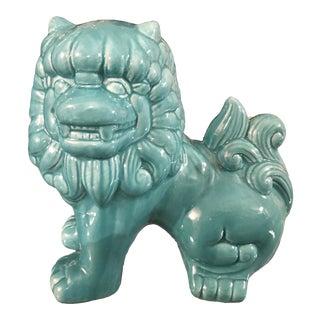 Chinoiserie Turquoise Foo Dog Figurine For Sale