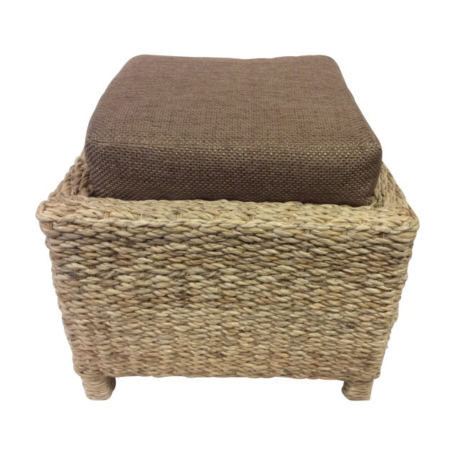 Handmade Woven Stool Mimbre Brown - Image 1 of 9