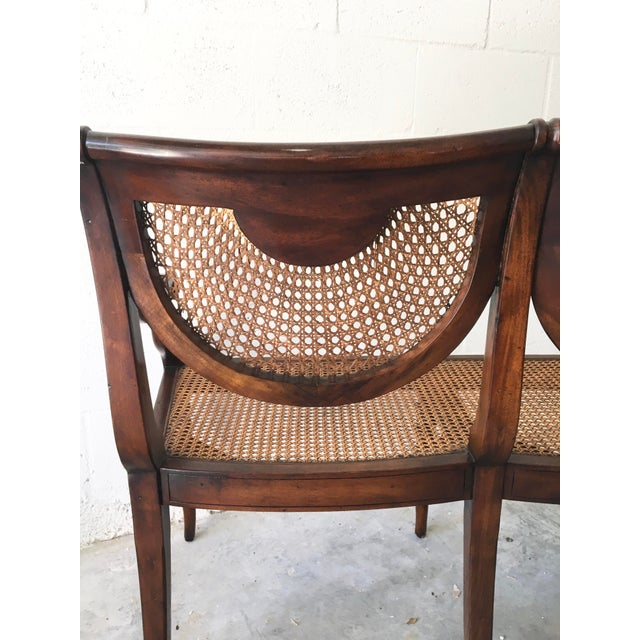 Theodore Alexander Acacia and Cane Bench For Sale - Image 12 of 13