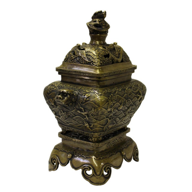 This is a nicely made oriental incense burner with fine polish and finishing touch. It can be used as incense holder,...