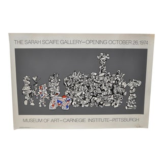 "Jean Dubuffet ""Sarah Scaife Gallery"" Opening Poster Circa 1974"