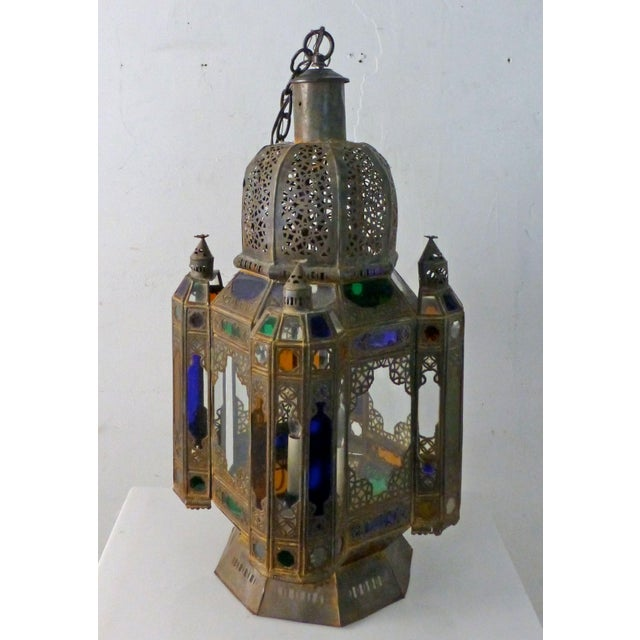 Gothic Vintage 1960s Moroccan Moorish Statement Chandelier For Sale - Image 3 of 10