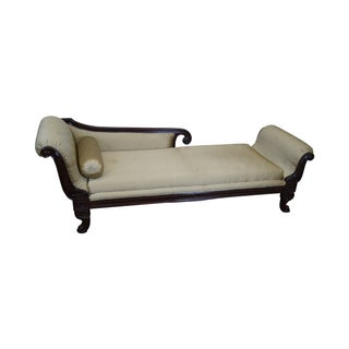 Mahogany Framed Classical Regency Chaise Lounge