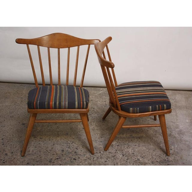 Pair of Conant Ball Spindle-Back Accent Chairs Attributed to Russel Wright - Image 4 of 10