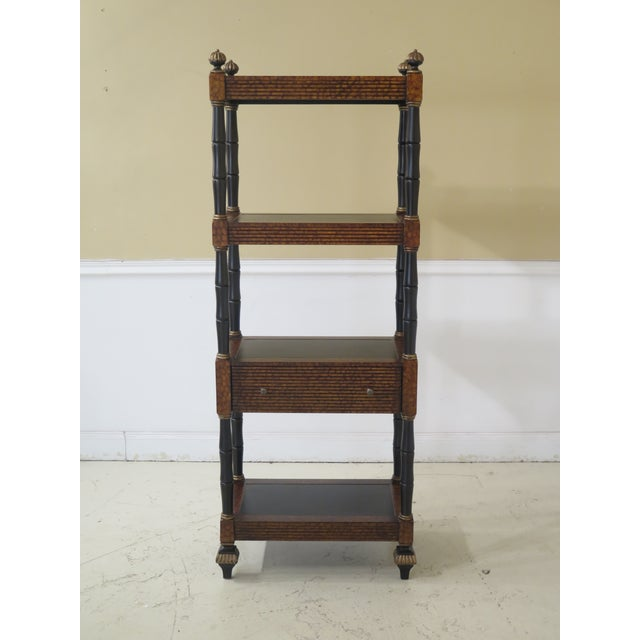 Lillian August Regency Style Leather Top Tiered Bookshelf For Sale - Image 10 of 10