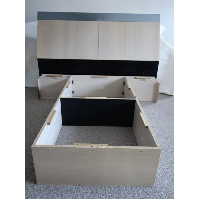 Unique Vintage Ello Floating Bed Platform and Bedside Tables - 3 Piece Set - Image 5 of 10