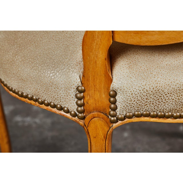 19th Century Louis XV Style Caned Armchairs - Set of 4 For Sale - Image 9 of 11