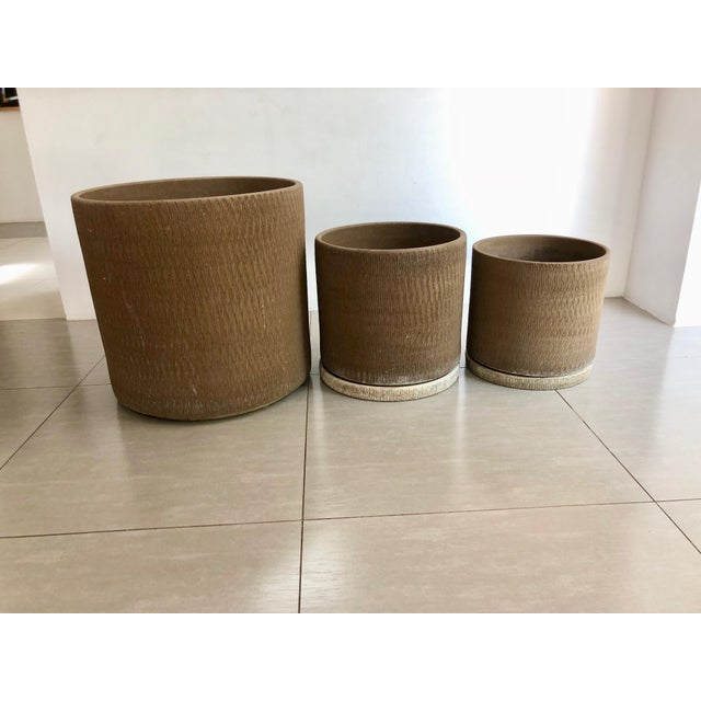 Gainey Sgraffito Pots - Set of 3 For Sale - Image 13 of 13