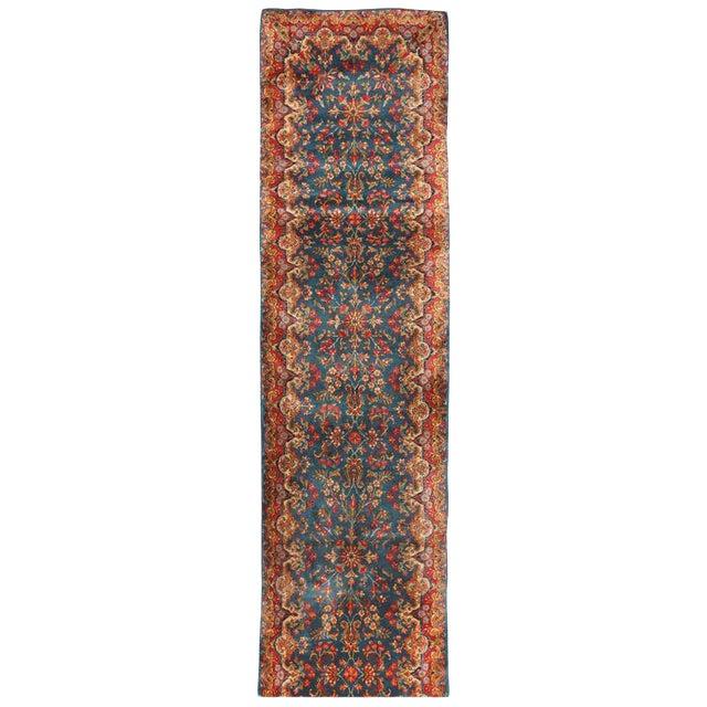 Antique Persian Kerman Runner For Sale