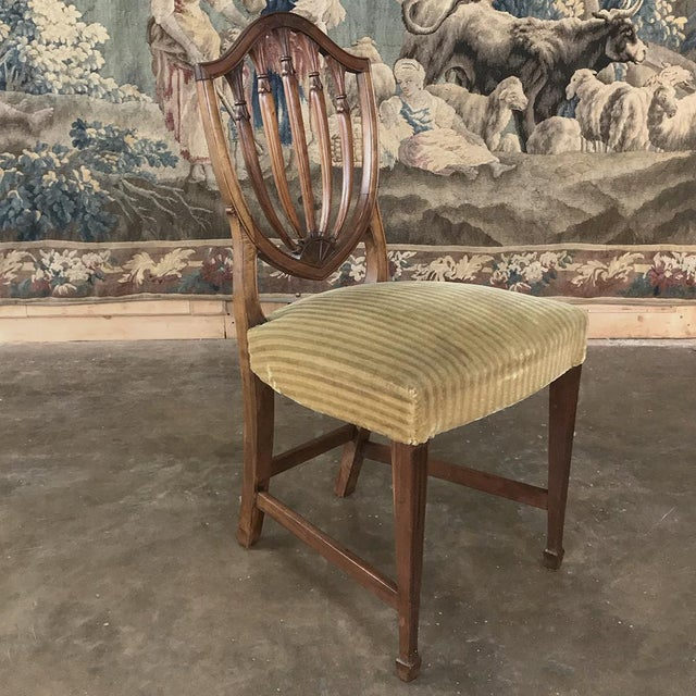Wood Set of 12 Antique English Sheraton Dining Chairs Includes Four Armchairs For Sale - Image 7 of 13