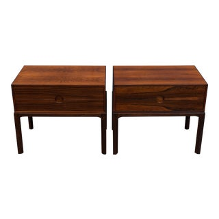 Askel Kjersgaard Danish Rosewood Nightstands for Odder For Sale