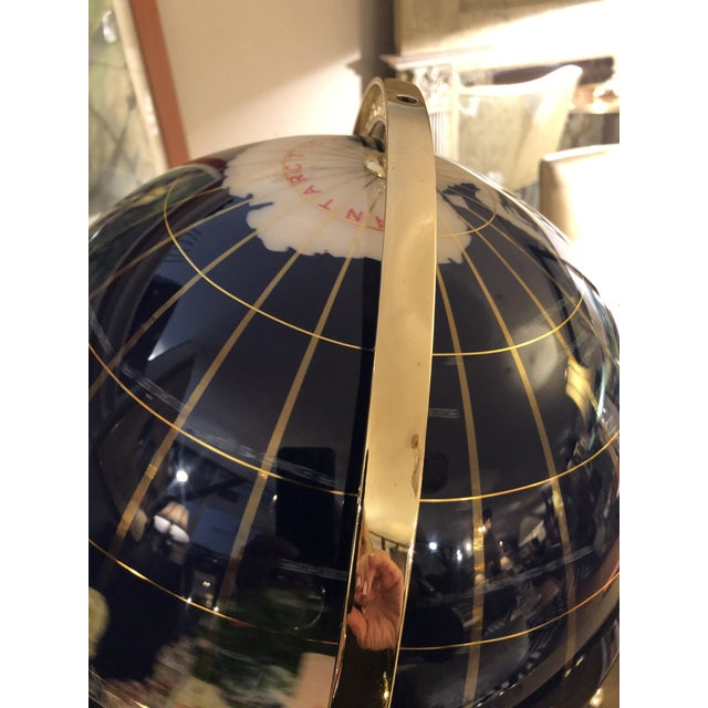 Mixed Stone and Brass Desktop Globe For Sale - Image 9 of 11