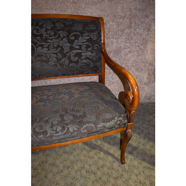 1980s Vintage Italian Provincial Style Settee For Sale - Image 12 of 13