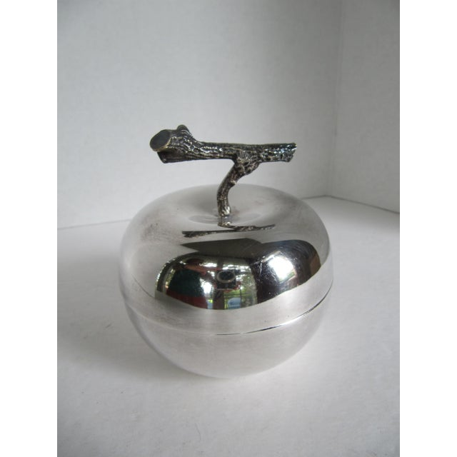 Silver Plated Apple Bowl - Image 2 of 5
