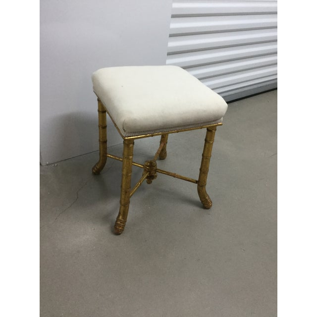 Late 19th Century 19th Century French Gilt Wood Bamboo Stool For Sale - Image 5 of 6