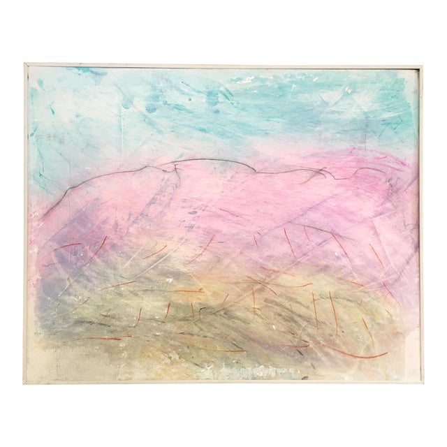 Framed Abstract Pastel & Plaster on Canvas Board - Image 1 of 6