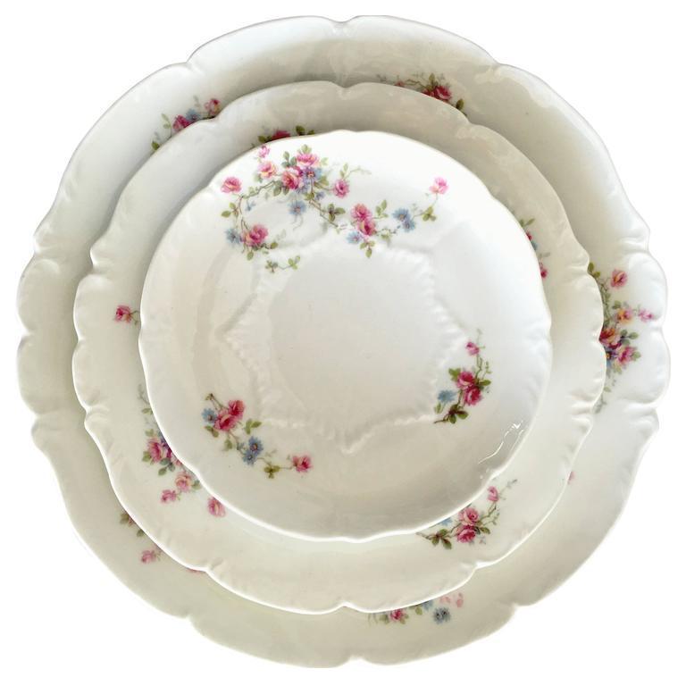 Limoge France  Scattered Roses  Dinnerware 1920s - Set of 42  sc 1 st  Chairish & Limoge France