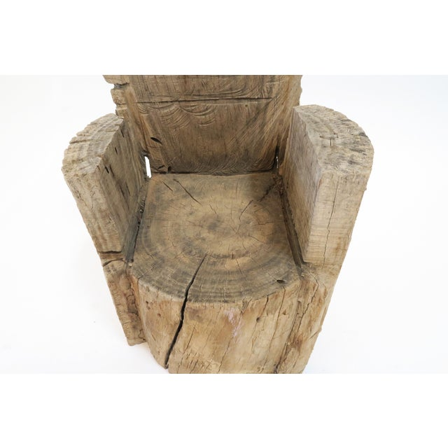 Childs Wood Stump Chair For Sale In Los Angeles - Image 6 of 6