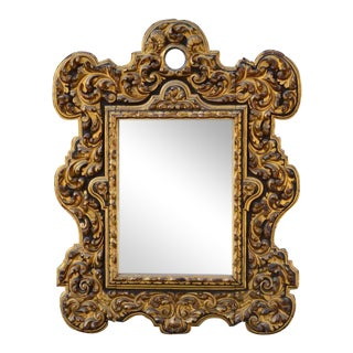 18th Century Mirror in Carved Giltwood