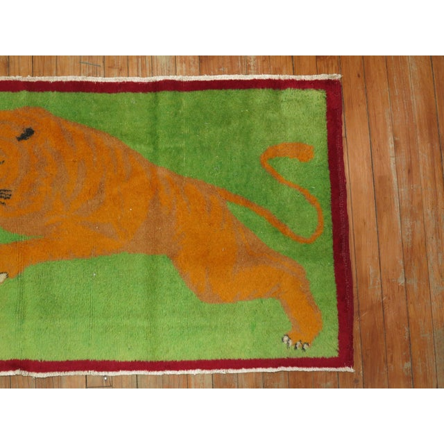 Angry Tiger Vintage Turkish Rug, 2'3'' X 4'6'' For Sale - Image 4 of 10