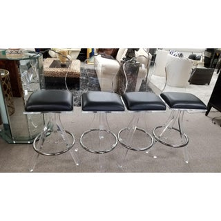Lucite Bar Stools - Set of 4 Preview