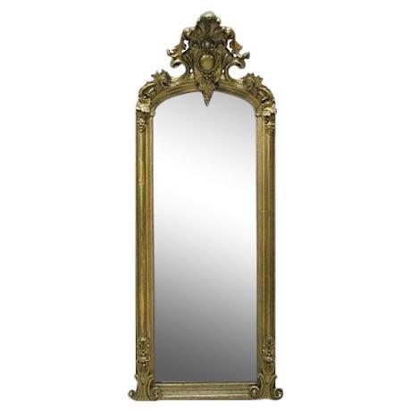 Venetian Gilded Standing Mirror - Image 1 of 2